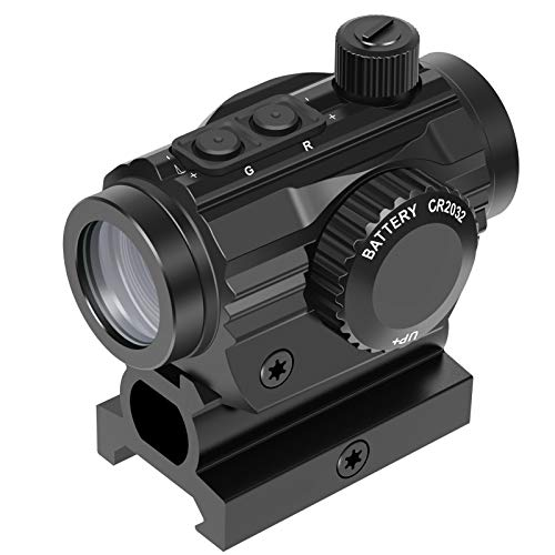 """Feyachi RDS-36 1x22mm 5 MOA Red & Green Dot Sight Micro Red & Green Dot Scope with 0.83"""" Riser Mount Absolute Co-Witness Height"""