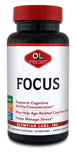 Olympian Labs Focus Herbal Supplements, 60 Count