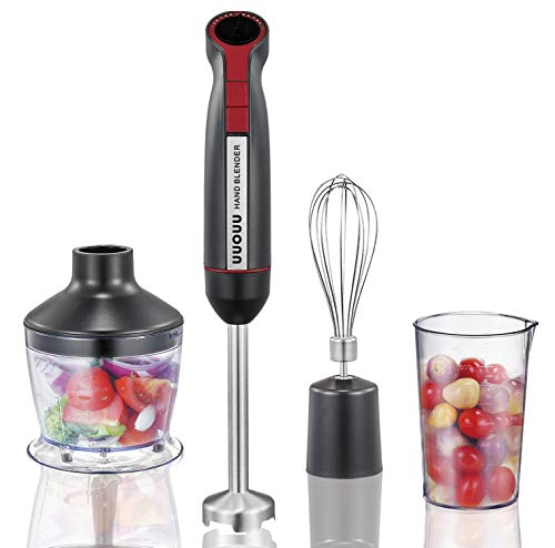 Hand Blender 3 in 1, UUOUU 800 W...