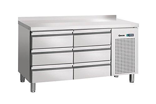 Bartscher Kühltisch, Umluft, 6 Schubladen, mit Aufkantung - 110804MA