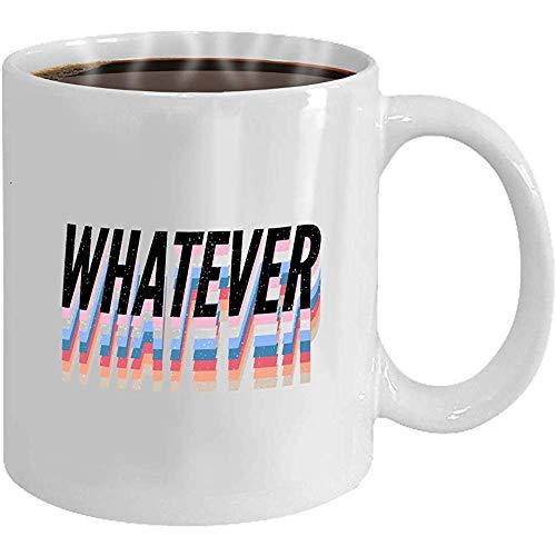 Mok - koffiemok - geschenken - motief van de witte theekop met een inhoud van 295 ml - ongeacht hoe de spreuk - de letter van de mode