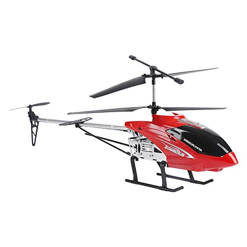 Moerc Outdoor 80cm RC helicóptero con Gyro LED Luz de Control Remoto Plane 3.5 Canal 2.4GHz Gyro Altitude Hold Indoor High Speed Toy Kids Adultos (Color : 1battery Pack)