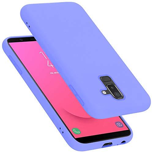 Cadorabo Funda para Samsung Galaxy A6 Plus / J8 en Liquid Lila Claro - Cubierta Proteccíon de Silicona TPU Delgada e Flexible con Antichoque - Gel Case Cover Carcasa Ligera