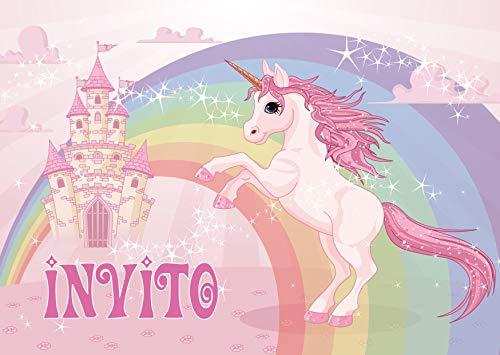Edition Colibri 10 inviti per Festa di Compleanno; Motivo: Unicorno / inviti di Compleanno per...
