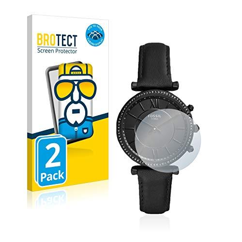 BROTECT Full-Cover Schutzfolie kompatibel mit Fossil Q Carlie (2 Stück) - Full-Screen Bildschirmschutz-Folie, 3D Curved, Kristall-Klar