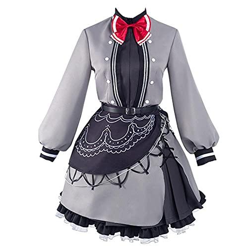 Anime The Lost Memory Siesta Cosplay Disfraz Halloween Navidad Fiesta Disfraz Lolita Vestido de criada para mujer conjunto completo-gris_XL