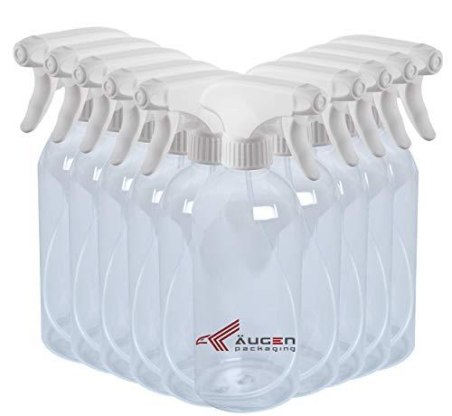 ÄUGEN GmbH | 10Stk a 500ml Sprühflasche | weißer vollplastik Sprühkopf | Trigger | leer | Spray Bottle
