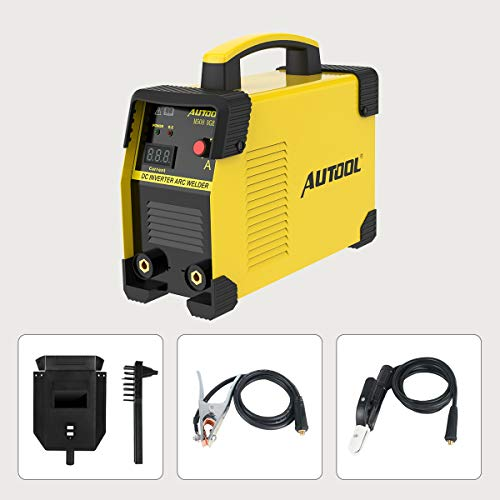 AUTOOL M508 ARC-200 - Equipo de soldadura inversor de corriente CC de 20-160 amperios, kit de soldadura IGBT portátil de 110 V 220 V