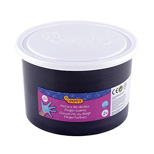 Jovi 56130 Pot de gouache au doigt Noir 500 ml