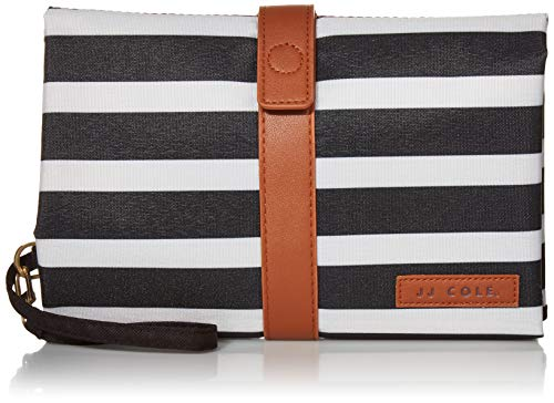 JJ Cole Diaper Changing Clutch for Baby Diapers and Wipes, Black & White Stripes
