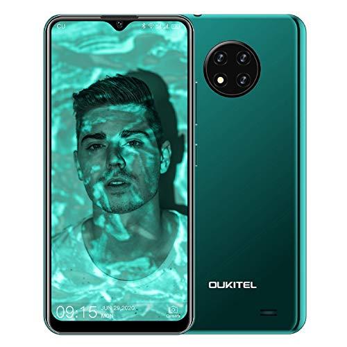 OUKITEL C19 (2020) Smartphone ohne Vertrag, 6,49 Zoll 2GB+16GB Handy, 4000mAh Akku 13MP Quad Kamera, 4G Dual SIM Android 10, 256GB erweiterbar (Grün)