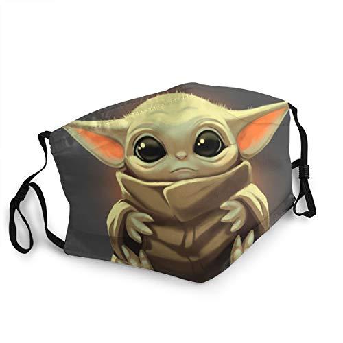 Star Wars Baby-Yoda-Gesichtsmaske, waschbar, wiederverwendbar, Mund-Gesichtsschutz, Bandana, Sturmhaube, Staubmaske, Unisex, Erwachsene, tolles Geschenk