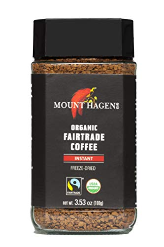 Mount Hagen Organic Fair Trade Freeze Dried Instant Coffee 3.53 oz Kosher Award-Winning Single-Origin 100% Arabica