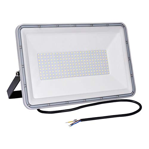 200W Proyector LED exterior IP67 Impermeable Foco exterior 16000 lumen Blanco frío 6500K Iluminación Led Floodlight para jardín garaje estacionamiento almacén Iluminación del paisaje