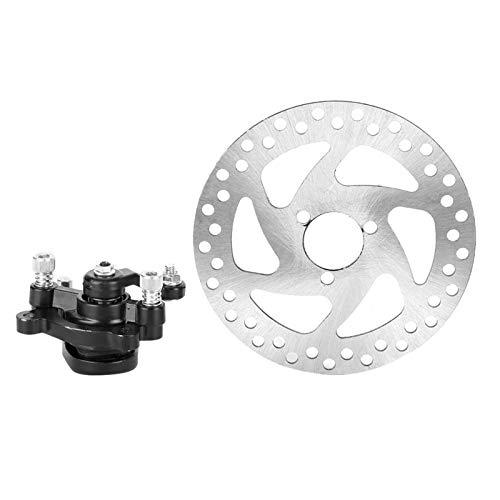 Disco de freno, aleación de aluminio Mini scooter Juego de freno de disco trasero Disco de freno + Pinza de freno para rotores SUV