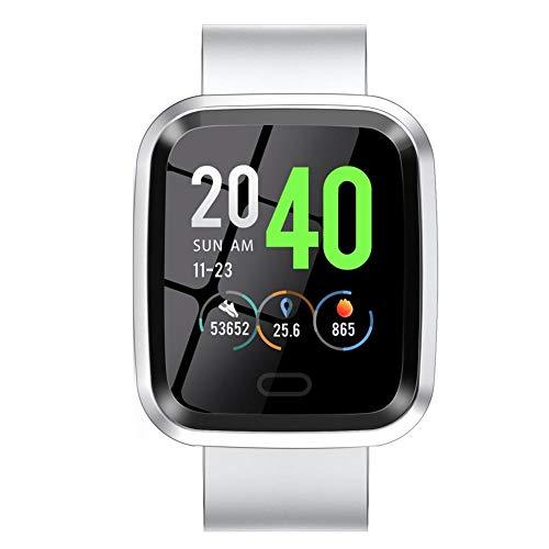 happygirr Multireloj deportivo de 1,3 pulgadas con pantalla táctil de 1,3 pulgadas, rastreador de actividad, pulsómetro, pulsera inteligente, Bluetooth, resistente al agua, para hombre y mujer
