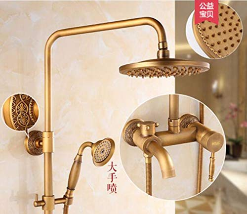 waller de cuivre d'arrosage de fleurs européens ensemble ancien robinet d'eau froide et d'eau chaude fleurs d'rétro - salle de bains,b