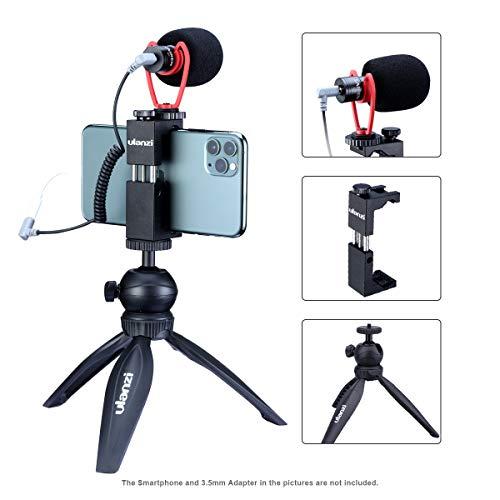 ULANZI Smartphone Video Kit, Extension Pod Tripod + Universal Phone Tripod Mount +...