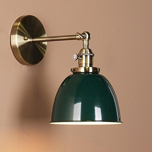 Buyee® Modern Vintage Industrial Metal Lampe Edison-Lampe Retro Lampe Shade Loft Coffee Bar Küchenwandleuchte Lampen Licht ( Grün)