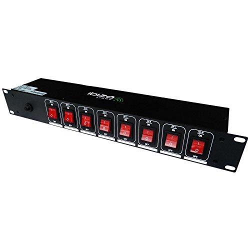 Ibiza LC806S Steckdosenleiste für Lichtanlage, Schwarz