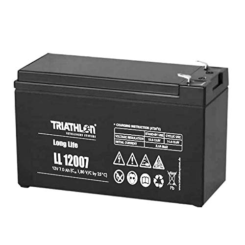 Triathlon Long Life AGM Batterie 12Volt 07AH wartungsfreie verschlossene VLRA Batterie (Valve Regulated Lead Acid)
