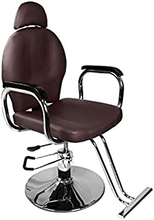 Brown Classic Recline Hydraulic Barber Chair Styling Salon Beauty