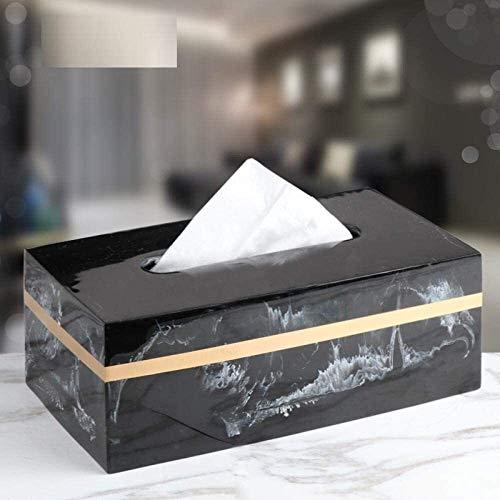 TLF-FF caja del tejido del tejido titulares Caja de almacenamiento caja de pañuelos creativo Mármol Resina caja de pañuelos de estilo nórdico Sala de estar Mesa de dormitorio Tray Hotel toalla de pape