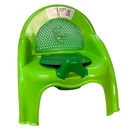 Mediawave Store - Sedia Vasino Bimbi 170023 interno removibile con sportellino 32x30x30cm, vari colori, pannolino, vasino per wc, bimbi, prima infanzia, facile utilizzo, wc per bambini, baby (Verde)