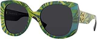 Versace VE4387 Rectangle Sunglasses for Women + FREE Complimentary Eyewear Kit
