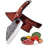 Cuchillo de cocina japonés Promithi,cuchillo de chef profesional,cuchillo de carnicero Full Tang,cuchillo para picar hecho a mano,cuchillo para deshuesar carne,cuchillo de bolsillo para uso general