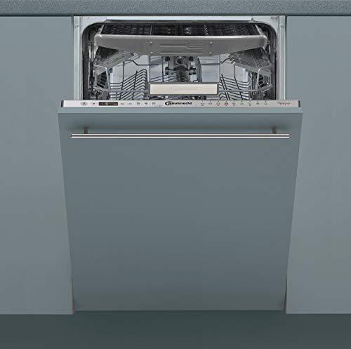 Bauknecht BSIO 3O35 PFE X Vollintegrierter Geschirrspüler /45 cm Breite /PowerClean/ActiveDry/Besteckschublade/Hygieneprogramm/Vollwasserschutz