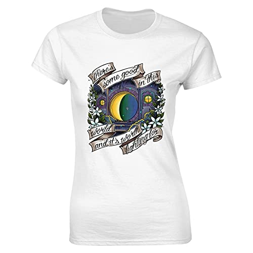 Liuqy in A Hole in The Ground - Camiseta para mujer, diseño clásico, blanco, L