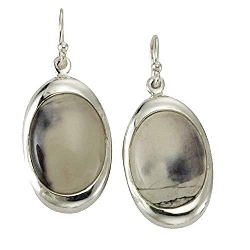 KISMA Schmuck Ohrhaken Ohrringe Unikate Porzellan - Jaspis 925 Sterling Silber KIO0111-013