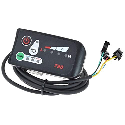 Perfeclan Display a LED per Bici elettrica, Pannello di Controllo Display Impermeabile, per Scooter - 36V