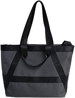 Handbag - Chic Grey Oxford Cloth Gym Bag Large Capacity Travel Bag For Women Fashion Crossbody Bag Shoulder Bag Daily Casu...