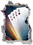 Casino Glückspiel Vegas Poker Ass Wandtattoo Wandsticker Wandaufkleber E0061 Größe 67 cm x 90 cm
