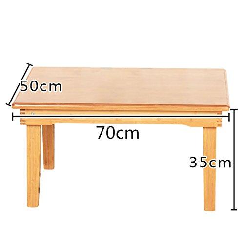 Table en bois ordinateur bureau lit plier paresseux Portable ordinateur portable petit bureau lit (taille : 70 * 50 * 35cm)