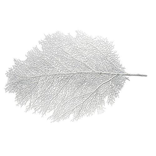 AOIWE Tischset für Esstisch Untersetzer Lotusblatt Palmblatt Simulationsanlage PVC Tasse Couchtisch Matten Küche Weihnachten Home Decor