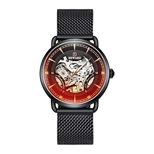 JISHIYU Negro Top De Lujo Impermeable De Los Hombres Automáticos Relojes Mecánicos Completo De Acero Reloj De Los Hombres De La Marca Mecánica Reloj De Pulsera