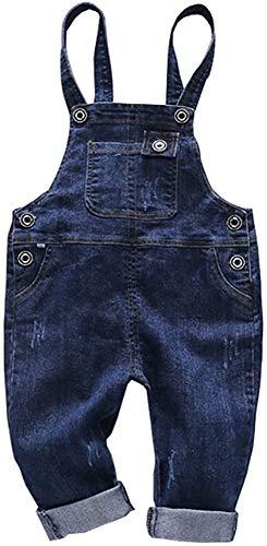 Ladyful Baby Kleinkind Jungen Mädchen Latzhose Jeans Hosen Overall Lange Jumpsuit (Stil 2, 120)