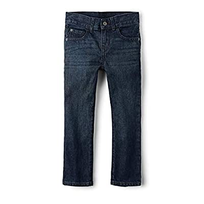 The Children's Place Big Boys' Straight Leg Jeans, Deep Blue, 8 Slim