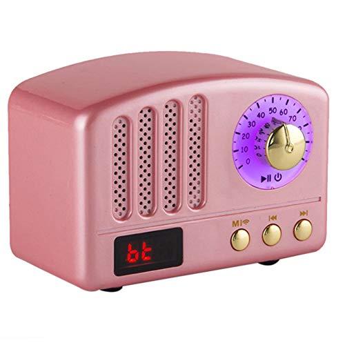 LXB Altavoces Bluetooth portátiles, Altavoz Bluetooth de tamaño Mini de Estilo clásico clásico con Radio FM y batería Recargable para el hogar, Dormitorio, Cocina, baño