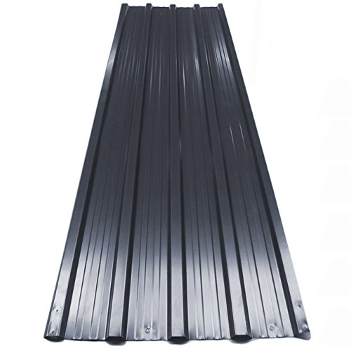 12x Deuba Corrugated Roof Sheets 1290 x 450 mm / 7 m² Roofing Wall Cladding Metal Grey Anthracite