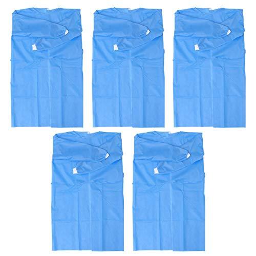 Artibetter 10 Stück Einwegschutz Insgesamt Vlies Kleid Laborkleidung Staubdicht Undurchlässige Overalls Sicherheit Medizinische Schürzen Anzüge