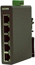 Moxa EDS-205 Unmanaged Ind Ethernet Switch, 5 x 10/100Base-TX, RJ45, Plastic Housing, -10~60°C