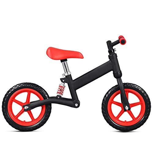 LHQ-HQ Los niños Equilibrio Bicicletas niños y niñas Bike Balance Antideslizantes Ruedas Manillar de Aire Ajustable Asiento Sin Pedal de Empuje y Stride niños Formación niños pequeños Que Caminan del