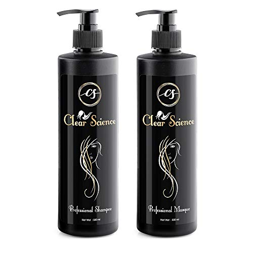 Clear Science Sulphate Free Keratin Shampoo and Hair Masque For Hair Combo Pack (500 ml Shampoo and 500 ml Conditioner)