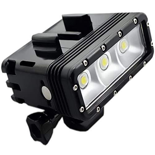 Luz de Video LED Impermeable de Doble batería Regulable de Alta Potencia, luz Nocturna, luz de Buceo, luz subacuática para Gopro Hero6 Hero5/5S/4/4S/3+/3/2 SJCAM Sj4000/Sj5000/Sj6000/Sj7000