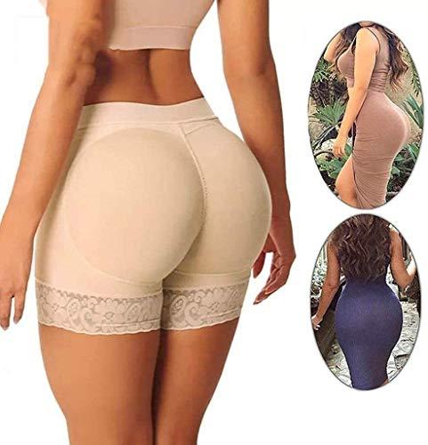 Hcxbb-15 Kolben-Heber Padded - Frauen Sexy Kolben-Heber Padded Panty - Body Shaper Hip Enhancer Boyshort Fake Ass Push Up Padded Buttock 2 Packs (Farbe : Natural, Size : Small)