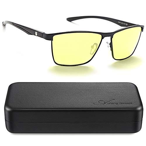 AoHeng Occhiali da guida di notte,occhiali luce blu,HD visione notturna,Ridurre bagliore,filtraggio della luce blu,luce polarizzata fotocromatica,protezione UV400